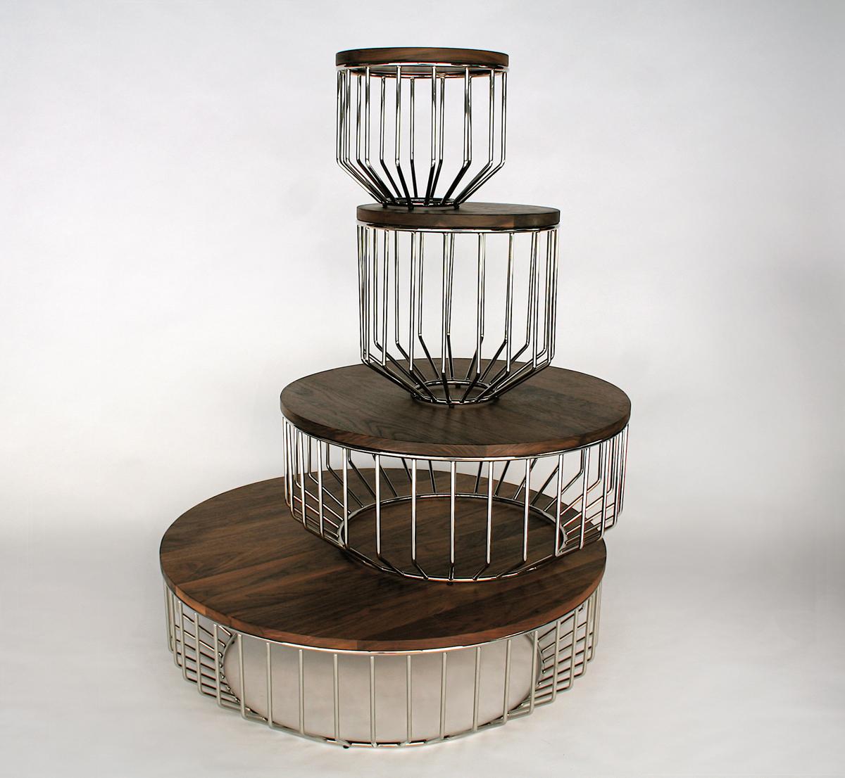 Side Table Designs ~ Phase design reza feiz designer wired side table