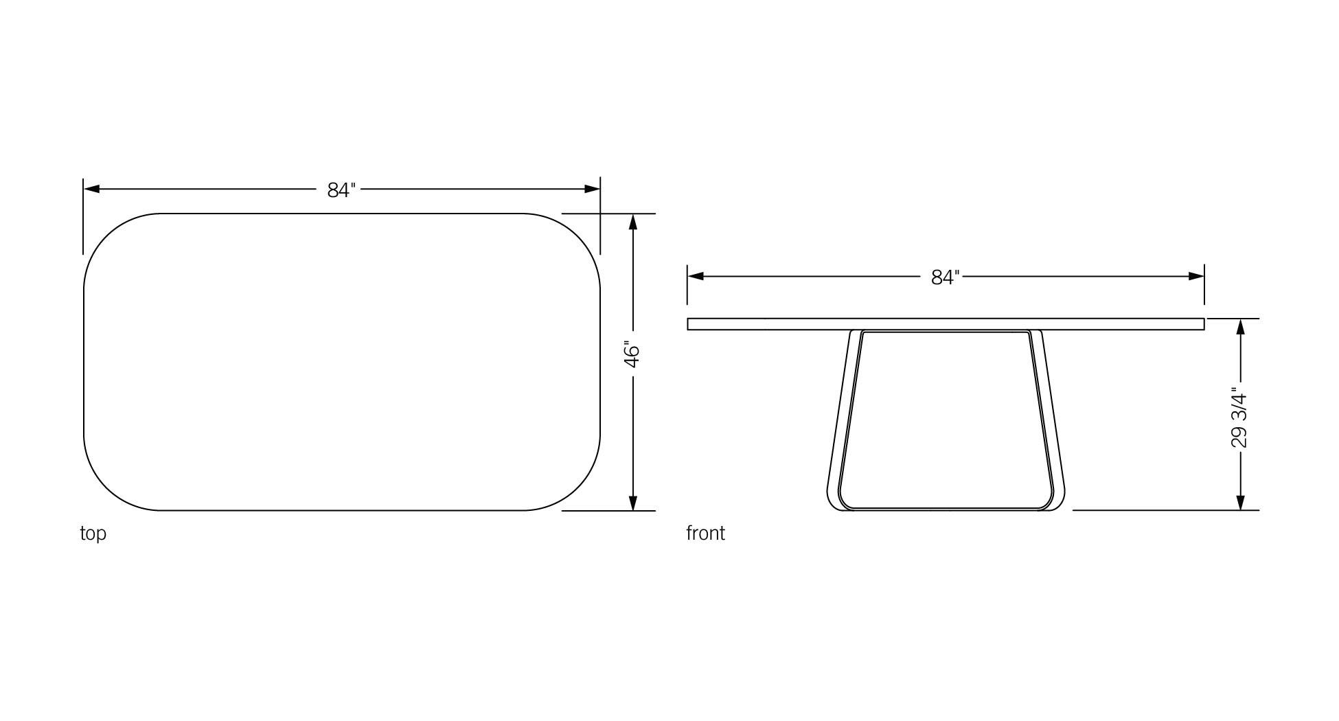 Phase design reza feiz designer primi dining table for Table sheet design
