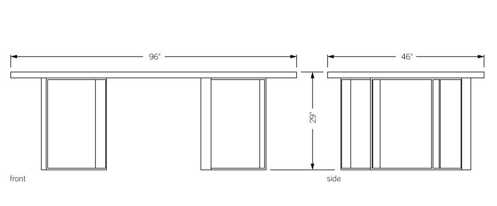 Phase design reza feiz designer roundhouse table for Table sheet design