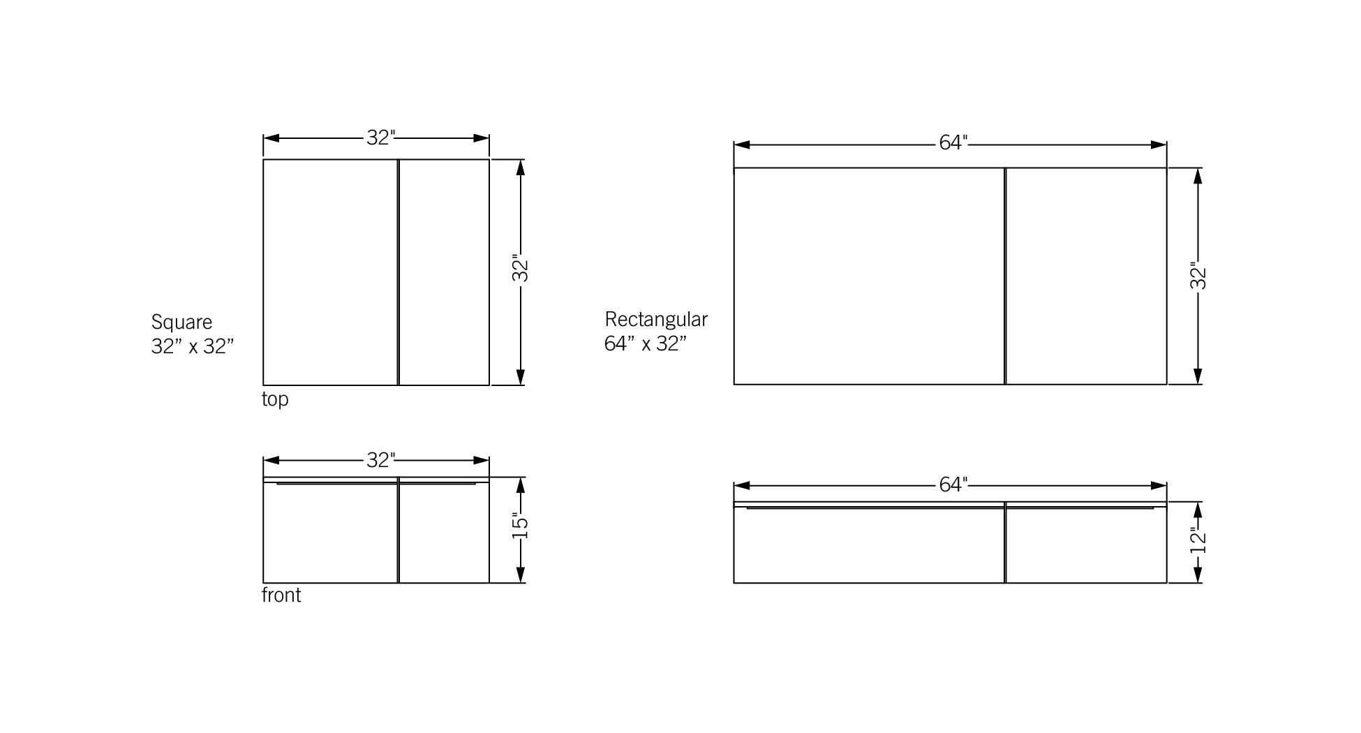 Phase design reza feiz designer division coffee table for Table sheet design